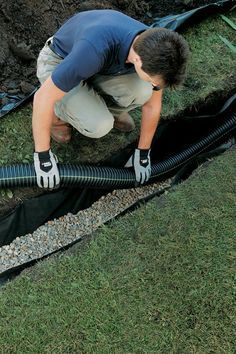 How to Install a French Drain in your yard w/ Step by Step and pictures