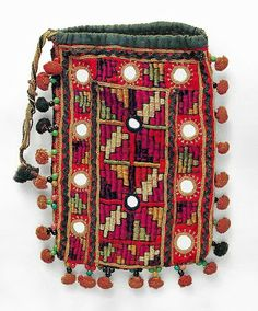 A Vintage Banjara Gypsy Mirrored Pouch Purse.