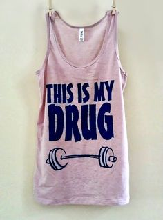 """Large Dusty Pink/Purple """"This is My Drug"""" Racerback Fitness / Workout Tank Top / Crossfit"""