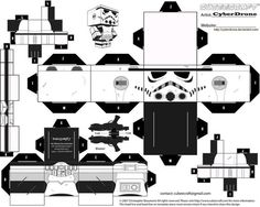 My custom version Cubeecraft / Papercraft cutout template of a Stormtrooper from Star Wars. This is a different version to the Cubeecraft.com Stormtrooper (All My Custom Cubeecraft Templates are ma...