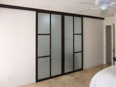Sliding wall door - they attach to the bar at the top.  Sweet!