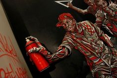 Strong Visual Effects: Street-Art Style 3D Paintings by Shaka