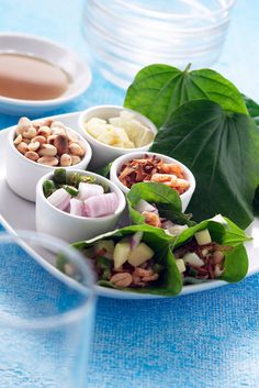 Miang Kham (เมี่ยงคำ) Tasty Thai Leaf-wrapped Tidbits for Appetizer