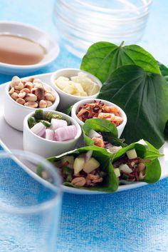 Miang Kham (เมี่ยงคำ) Tasty Thai Leaf-wrapped Tidbits for Appetizer