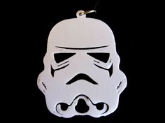 White Starwars Storm Trooper Pendant 3D print by Untimed on Etsy, $10.00