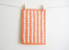 Patterned Notebook in Triangles by MintAfternoon on Etsy, $5.00