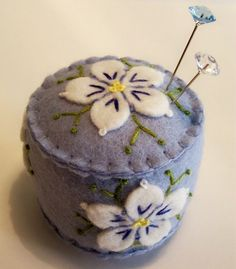 Ready to Ship Mini Dogwood in Lilac by TheDailyPincushion on Etsy, $15.00