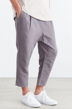 Koto Hitro Pinstripe Linen Pant - Urban Outfitters