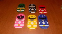 A set of 6 power rangers wall hanging by TmSalesCreations on Etsy