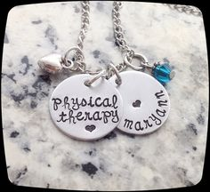 Physical Therapist Gift Physical Therapy Jewelry by ThatKindaGirl
