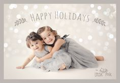 Children photography holiday card