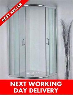 Shower-Enclosure-Door-Glass-Cubicle-Walk-In-corner-Quadrant-Tray-900-x-900 Corner Shower Enclosures, Cubicle, Glass Door, Armoire, Locker Storage, Doors, Tray, Stuff To Buy, Furniture