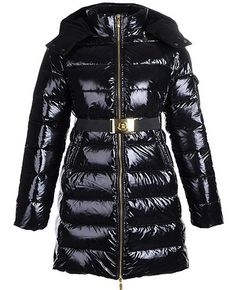 Moncler Femmes Nates Long Down Manteau In Noir 6df9ac81851