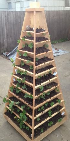 How To Build A Vertical Garden Pyramid Tower ~