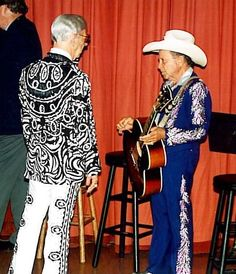 Gorgeous suits! Hank Snow & Little Jimmy Dickens