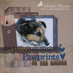 pawprints on our heart scrapbook layout by miriam thomas