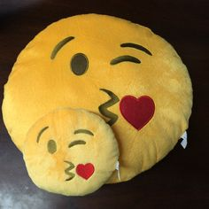 Emoji Pillows 10 Styles to choose from / 2 sizes by PlushMoji