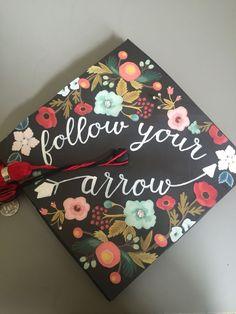 Graduation Cap Follow your arrow