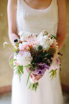 1920s Parisian Themed Wedding | #Bouquet | On SMP: http://www.StyleMePretty.com/california-weddings/berkeley/2014/02/03/1920s-parisian-themed-wedding/ Anna Wu Photography