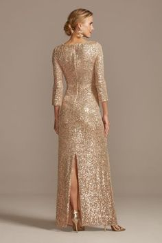 Turn heads in this light-catching sequin sheath dress with a curve-hugging wrap front that cascades into a complimentary twist detail. By Alex Evenings Nylon, polyest