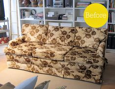 Before & After: Sofa Makeover Rock Paper Scissor Graphics