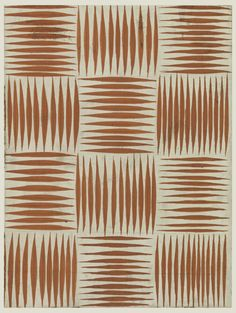 Tommi Parzinger - Drawing, Basket Weave Pattern, Textile Design, 1950-70