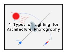 In photography, lighting is one of two most important thing to understand. Sound complicated, but not really. This article explain 4 types of lighting for architecture photography.