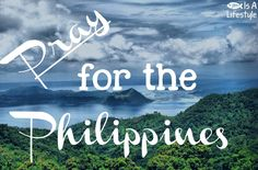 Let's pray for all of those in the Philippines who are going through rough times because of the Haiyan typhoon. 10,000 people have died, and many more lost their homes, towns and complete families.  Lord, please, give them comfort and peace, even in the midst of this amazing tragedy. In Jesus' Name we pray. Amen!