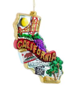 Look at this #zulilyfind! Kurt Adler California Glass Ornament #zulilyfinds