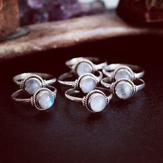 moon stone rings