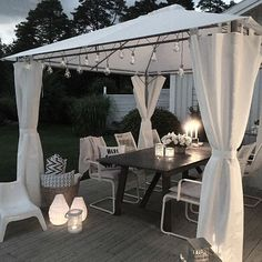 You do not have to restrict yourself to decorating the within of your house. Your patio and yard are extensions of your home, and have distinct chances to enable you to express yourself and your sense of style. Backyard Gazebo, Backyard Patio Designs, Outdoor Spaces, Outdoor Living, Outdoor Decor, Exterior Design, Interior And Exterior, Living Spaces, Sweet Home