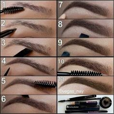 Cejas, maquillaje, paso a paso, step by step, eyebrows
