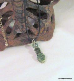 Leaf Agate Pendant Moss Agate Pendant, Jade Pendant, Green Pendant, Handmade, Natural Gems, Petite Pendant, Pendant Necklace, Gift For Her by BaubleandaButterfly on Etsy