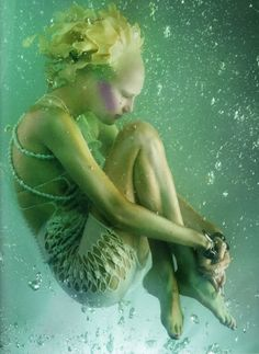 """""""The Girl from Atlantis"""" with Alla Kostromichova by Sølve Sundsbø for Vogue Japan, May 2010."""