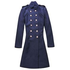 joyprettye | Elegant British Style Double Breast Blue Coat | Online Store Powered by Storenvy