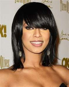 Peachy Short Hairstyles With Bangs Keri Hilson And Hairstyles With Bangs Short Hairstyles Gunalazisus