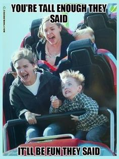 How I look on a roller coaster