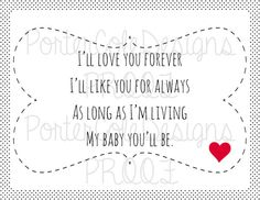 I Ll Love You Forever Quote Enchanting Love You Forever Like You For Always  Classroom Ideas