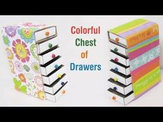 How to make a colorful mini chest of drawers using recycled materials