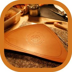 A new leather tooling project on my workbench today. Leather Carving, Leather Art, Leather Tooling, Cotton Rope, Vegetable Tanned Leather, Leather Accessories, Etsy Handmade, Sunglasses Case, Studio