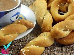 Greek Pastries, Pretzel Bites, Bagel, Bread, Sweet, Recipes, Food, Candy, Brot