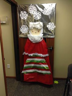 Mrs. Claus Christmas Door Decorating Contest, Classroom Door, Decorations, Doors, Embellishments, Decoration, Dekoration, Deko, Gate