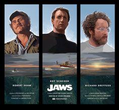 Jaws - movie poster - Hopko Designs