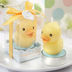 Rubber Ducky Candle Favor, Baby Shower Candles, Candle Favors for Baby Showers, Rubber Duckie Candle