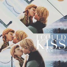 Frozen Anna And Kristoff Kiss
