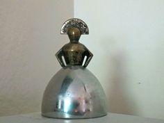 "Deco Chase Chrome Brass Woman Dinner Bell ""Brittany"" Hagenauer Era Machine Age   eBay"