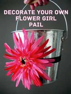 Paint the pail white, add a larger ribbon, and perhaps smaller flower for me :)