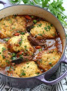 You may use beef stew meat for this recipe instead of short ribs. You only need 2 cups of beef stock for braising the short ribs, add the remaining 4 cups for your soup base. Cornmeal Dumplings, Dumplings For Soup, Dumpling Recipe, Chicken Dumplings, Homemade Dumplings, Chinese Dumplings, Short Rib Stew, Braised Short Ribs, Beef Recipes
