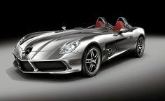 Exciting design reminiscent of the SLR racing cars. The Mercedes-Benz SLR Stirling Moss, its entire bodywork made of fine lightweight carbon fibre, represents a stand-alone design concept. Whilst the Mercedes-Benz designers were working on the body of the new SLR Stirling Moss, they were fully aware every single moment that they were creating a vehicle with a top speed of 350 km/h. At the same time this supreme athlete is highly reminiscent of the SLR racing cars from the 1950s,