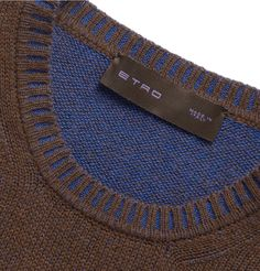 Etro Double-Faced Cashmere and Cotton-Blend Sweater | MR PORTER